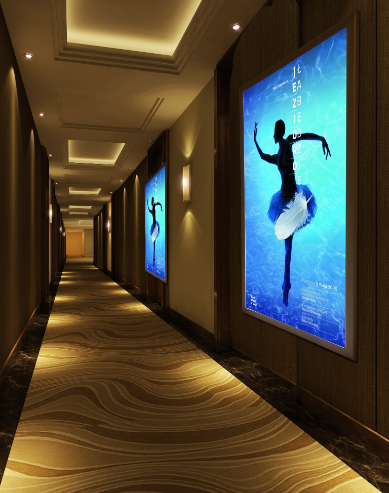 Illuminated LED poster frame – blackstar signs